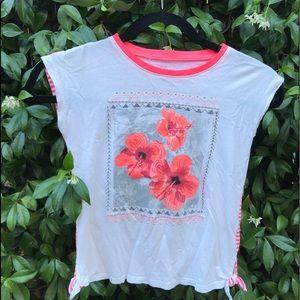 Kids vibrant Hawaiian themed shirt